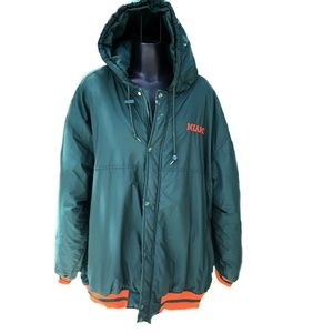 Miami Hurricanes Puffer Jacket Mens XL